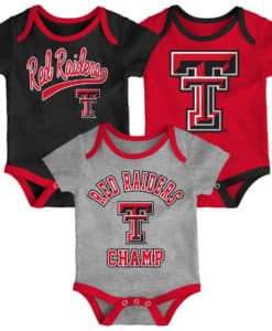 Texas Tech Red Raiders Baby 3 Pack Champ Onesie Creeper Set