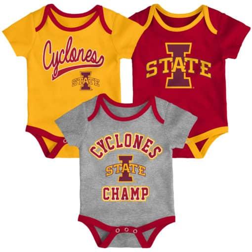 Iowa State Cyclones Baby 3 Piece Champ Onesie Creeper Set