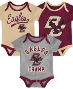 Boston College Eagles Baby 3 Pack Champ Onesie Creeper Set
