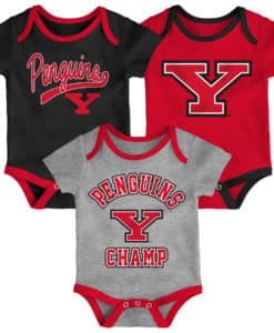 Youngstown State Penguins Baby 3 Pack Champ Onesie Creeper Set
