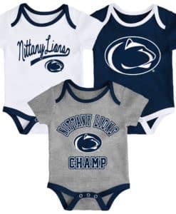 Penn State Nittany Lions 3 Pack Champ Onesie Creeper Set
