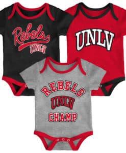 UNLV Rebels Baby 3 Piece Champ Onesie Creeper Set