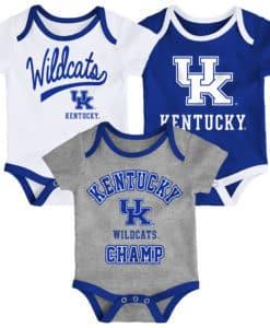 Kentucky Wildcats Baby 3 Pack Champ Onesie Creeper Set