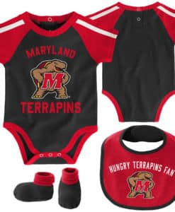 Maryland Terrapins Baby Black 3 Piece Creeper Set