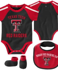 Texas Tech Red Raiders Baby Black 3 Piece Creeper Set