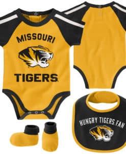Missouri Tigers Baby Gold 3 Piece Creeper Set