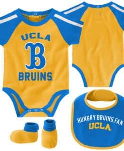 UCLA Bruins Baby Gold Blue 3 Piece Creeper Set