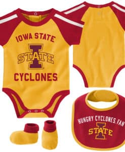 Iowa State Cyclones Baby Gold 3 Piece Creeper Set
