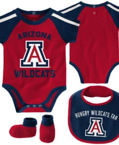 Arizona Wildcats Baby Red Navy 3 Piece Creeper Set