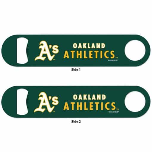 Oakland Athletics Green Metal Bottle Opener 2-Sided