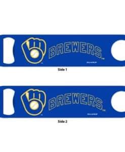 Milwaukee Brewers Blue Metal Bottle Opener 2-Sided