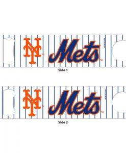 New York Mets White Pinstripe Metal Bottle Opener 2-Sided