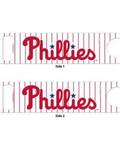 Philadelphia Phillies White Pinstripe Metal Bottle Opener 2-Sided