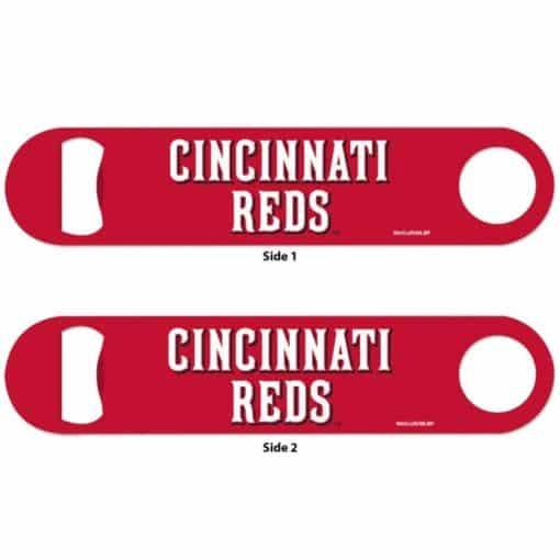 Cincinatti Reds Red Metal Bottle Opener 2-Sided