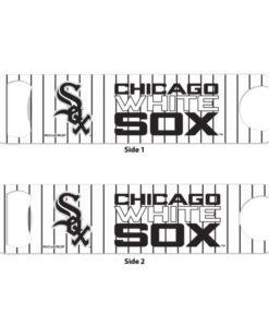Chicago White Sox White Pinstripe Metal Bottle Opener 2-Sided
