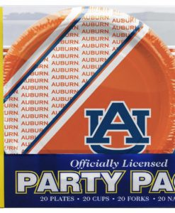 Auburn Tigers 80 Piece Disposable Party Pack