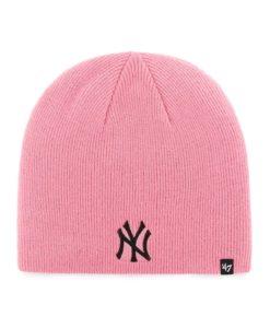 New York Yankees Women's 47 Brand Pink Rose Knit Beanie Hat