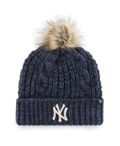 New York Yankees Women's 47 Brand Navy Meeko Cuff Knit Hat