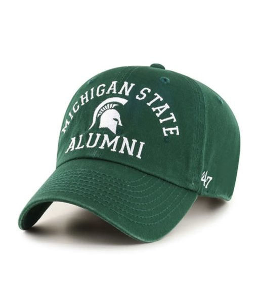 Michigan State Spartans 47 Brand Archway Dark Green Clean Up Adjustable Hat