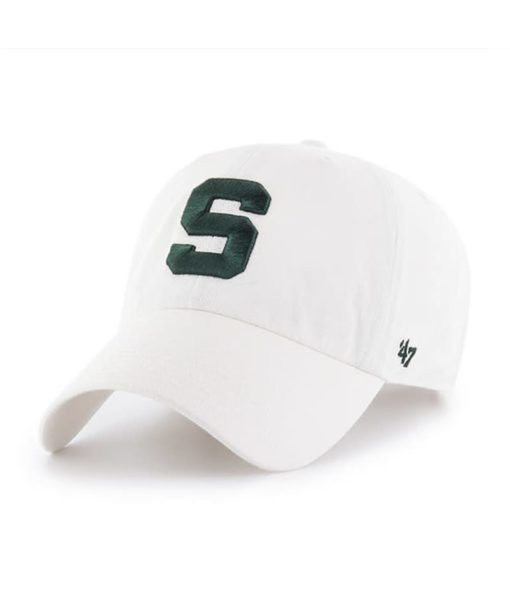 Michigan State Spartans 47 Brand S White Clean Up Adjustable Hat