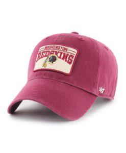 Washington Redskins 47 Brand Cardinal Red Fairmount Clean Up Adjustable Hat