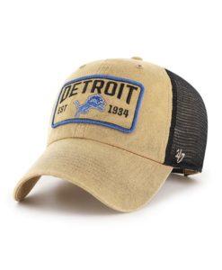 Detroit Lions 47 Brand Khaki Gaudet Trawler Clean Up Mesh Snapback Hat