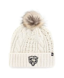 Chicago Bears Women's 47 Brand White Cream Meeko Cuff Knit Hat