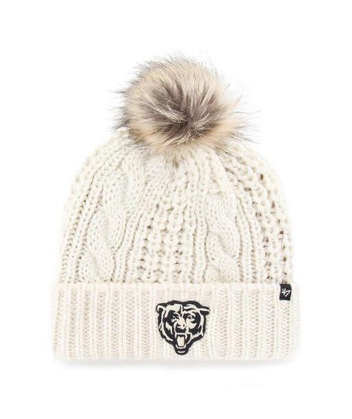 Chicago Bears Women's 47 Brand White Cream Meeko Cuff Knit Hat