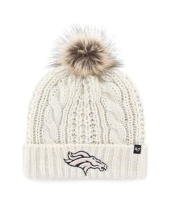 Denver Broncos Women's 47 Brand White Cream Meeko Cuff Knit Hat