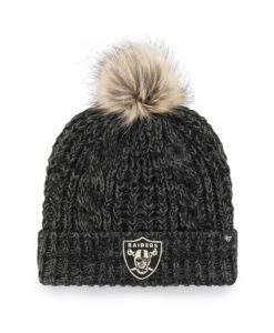 Las Vegas Raiders Women's 47 Brand Black Meeko Cuff Knit Hat
