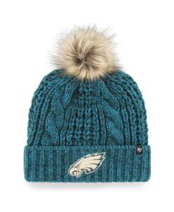 Philadelphia Eagles Women's 47 Brand Pacific Green Meeko Cuff Knit Hat