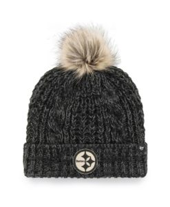 Pittsburgh Steelers Women's 47 Brand Black Meeko Cuff Knit Hat
