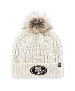 San Francisco 49ers Women's 47 Brand White Cream Meeko Cuff Knit Hat