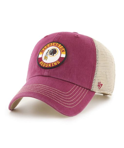Washington Redskins 47 Brand Cardinal Porter Clean Up Mesh Snapback Hat