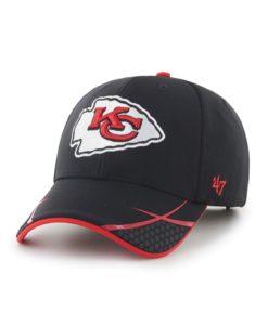 Kansas City Chiefs 47 Brand Sensei Black MVP Adjustable Hat