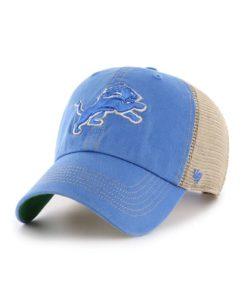 Detroit Lions 47 Brand Blue Raz Trawler Clean Up Khaki Mesh Snapback Hat