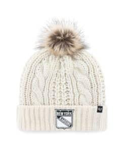 New York Rangers Women's 47 Brand White Cream Meeko Cuff Knit Hat