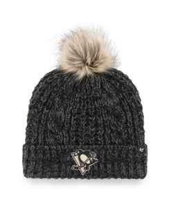 Pittsburgh Penguins Women's 47 Brand Black Meeko Cuff Knit Hat