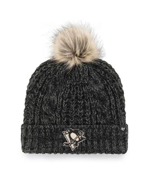 Pittsburgh Penguins Women's 47 Brand Black Meeko Cuff Knit Hat