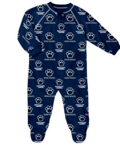 Penn State Nittany Lions Baby Navy Raglan Zip Up Sleeper Coverall