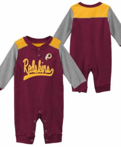 Washington Redskins Baby Burgundy Long Sleeve Coverall