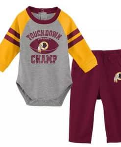 Washington Redskins Baby Boys Champ Burgundy Creeper & Pant Set