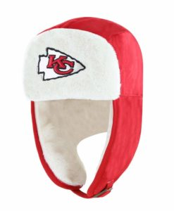 Kansas City Chiefs 47 Brand Red Trapper Knit Winter Hat