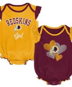 Washington Redskins Baby Girls 2 Piece Creeper Set