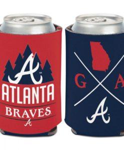 Atlanta Braves 12 oz Blue Red Hipster Can Cooler Holder