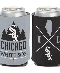 Chicago White Sox 12 oz Black Gray Hipster Can Cooler Holder