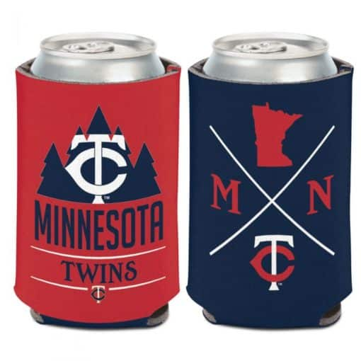 Minnesota Twins 12 oz Red Navy Hipster Can Cooler Holder