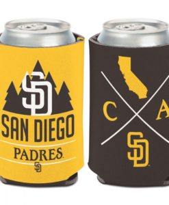 San Diego Padres 12 oz Brown Yellow Hipster Can Cooler Holder