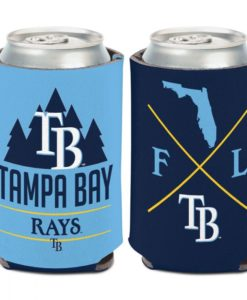Tampa Bay Rays 12 oz Blue Hipster Can Cooler Holder