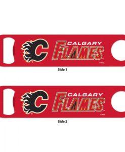 Calgary Flames Red Metal Bottle Opener 2-Sided